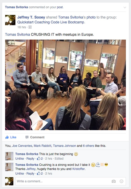 Tomas Svitorka Running His Meetup Group in the UK