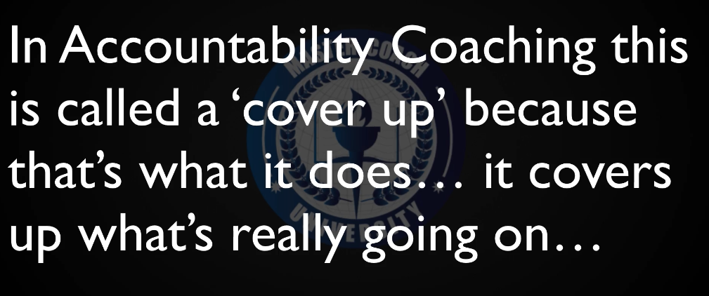 Accountability Coaching Cover Up