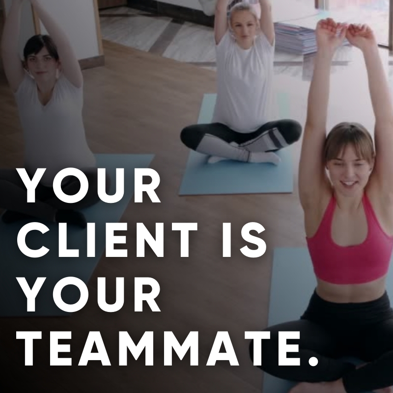 Your coaching client is your teammate.