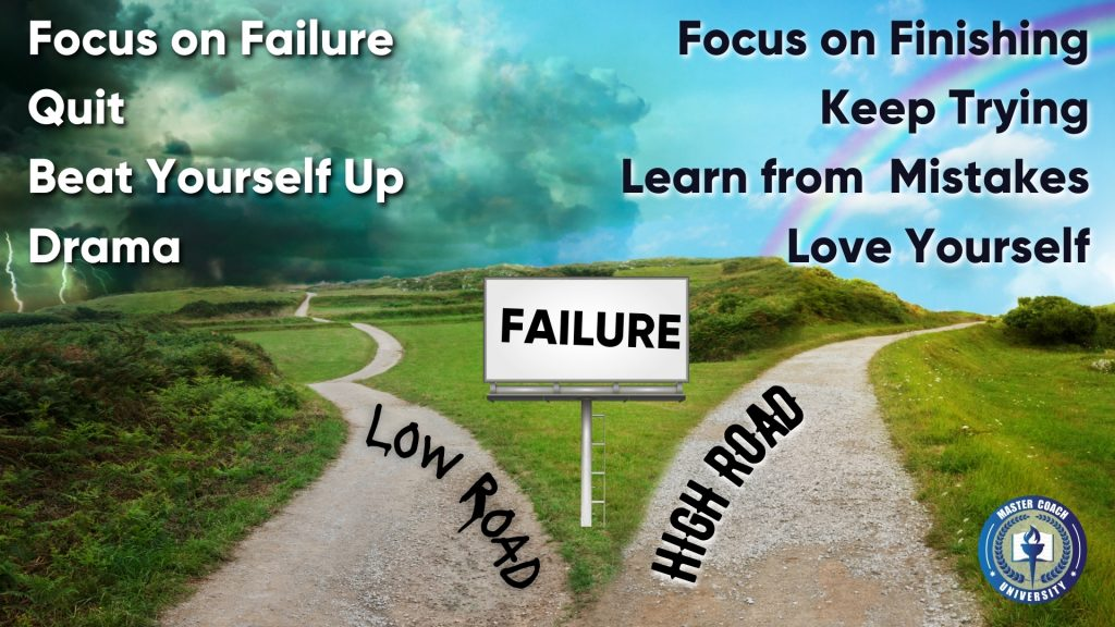 when you fail, you choose the low road or the high road