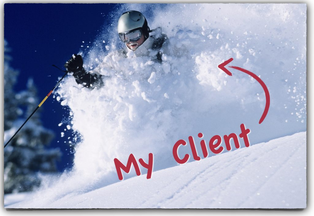 My Coaching Client Skiing