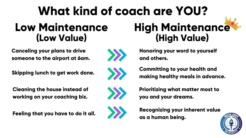 Low or high maintenance coach